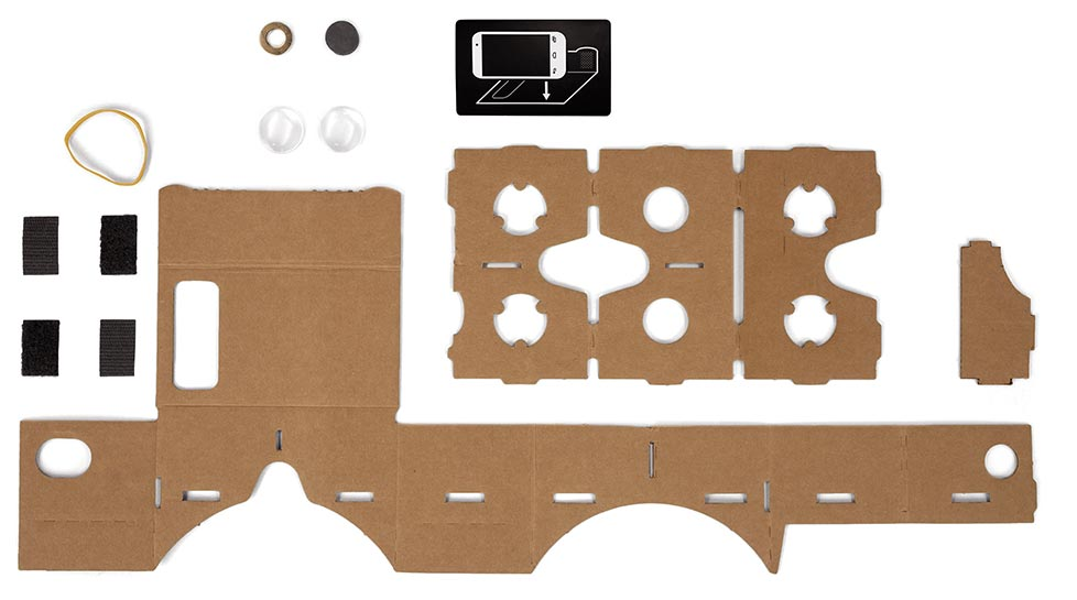 Bahan Google cardboard Apa itu Virtual Reality buildit cardboard parts